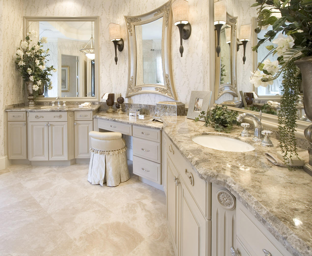 Custom Bathroom Vanities Pittsburgh custom bathrooms | his and hers construction