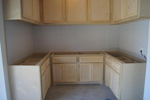 hand built cabinets