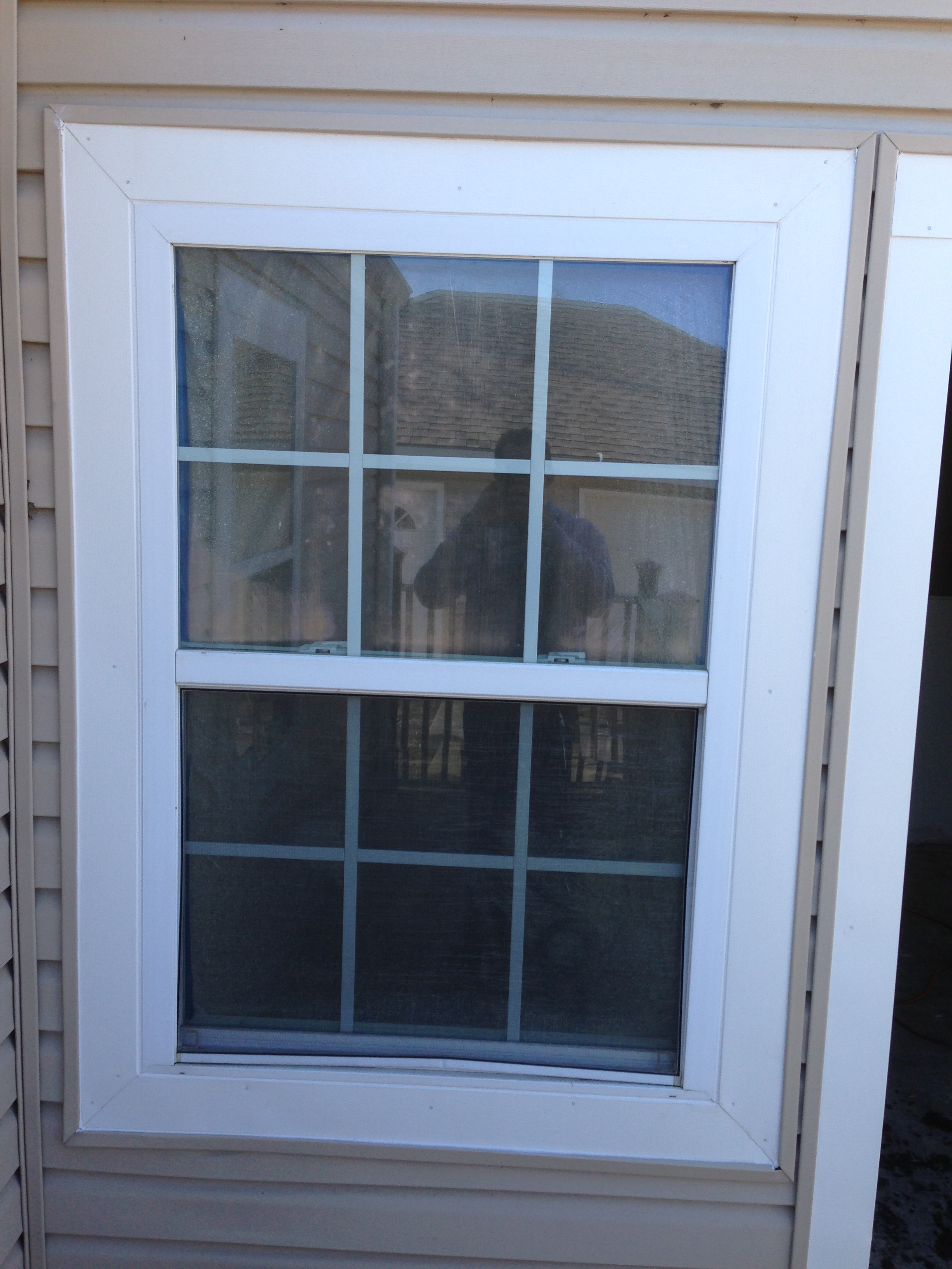 door and window frame that we wrapped in the aluminum fascial metal